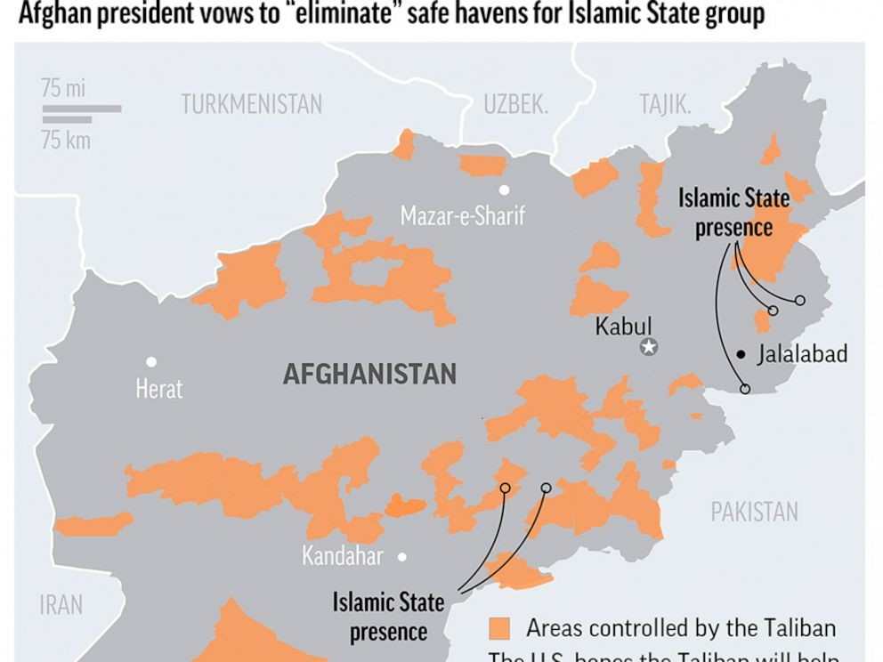 AREAS CONTROLLED BY TALIBAN