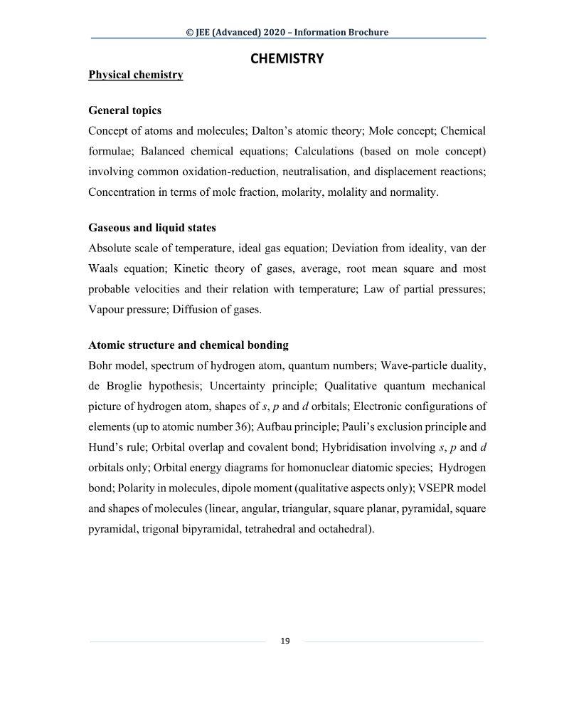 JEE Advanced 2020 Information Brochure Released by IIT Delhi
