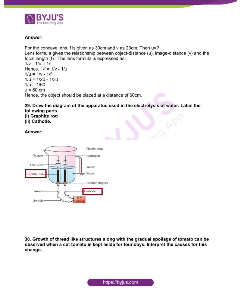KSEEB Class 10 Science Solved Previous Year Paper 2019 11