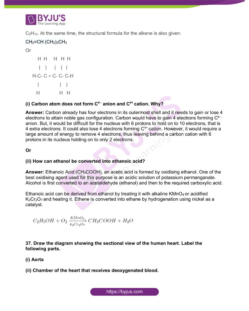KSEEB Class 10 Science Solved Previous Year Paper 2019 15