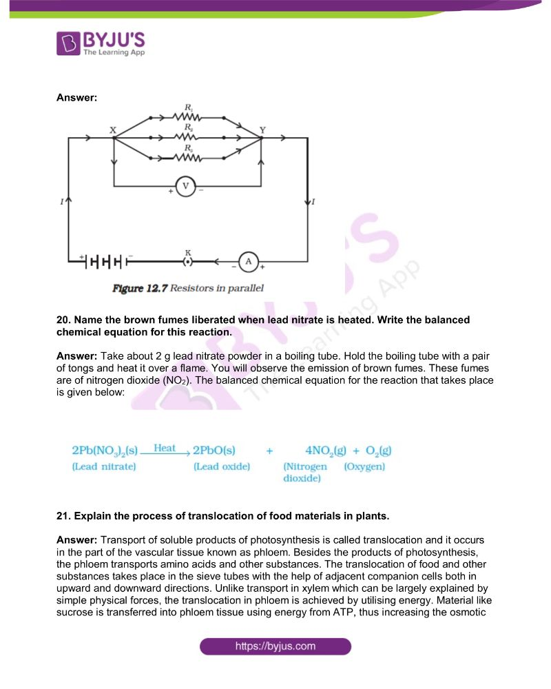 KSEEB Class 10 Science Solved Previous Year Paper 2019 6