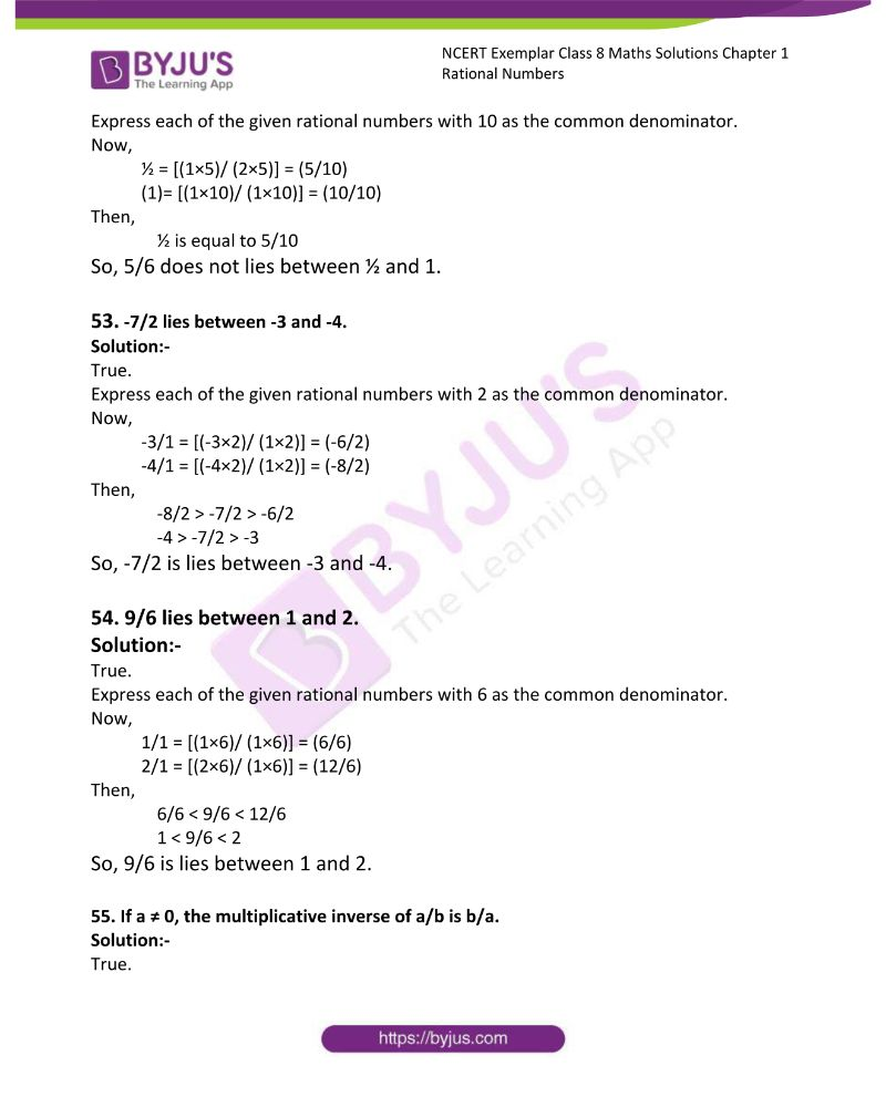 NCERT Exemplar Class 8 Maths Solutions Chapter 1 Rational Numbers 11