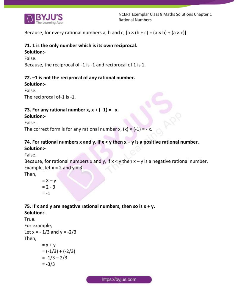 NCERT Exemplar Class 8 Maths Solutions Chapter 1 Rational Numbers 15