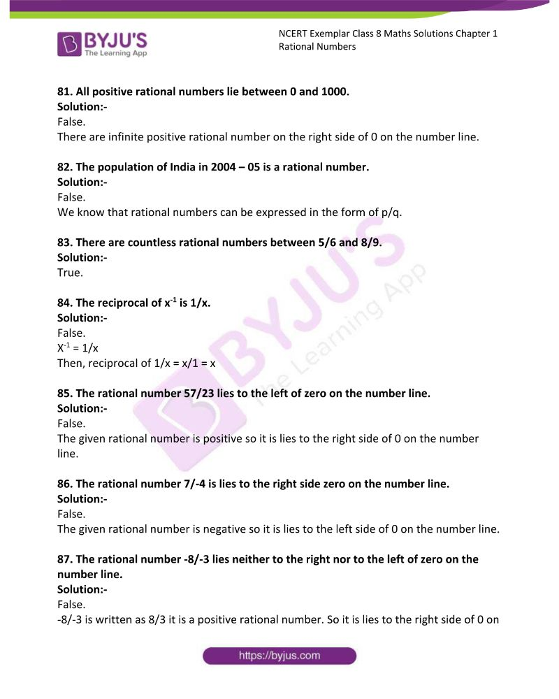 NCERT Exemplar Class 8 Maths Solutions Chapter 1 Rational Numbers 17