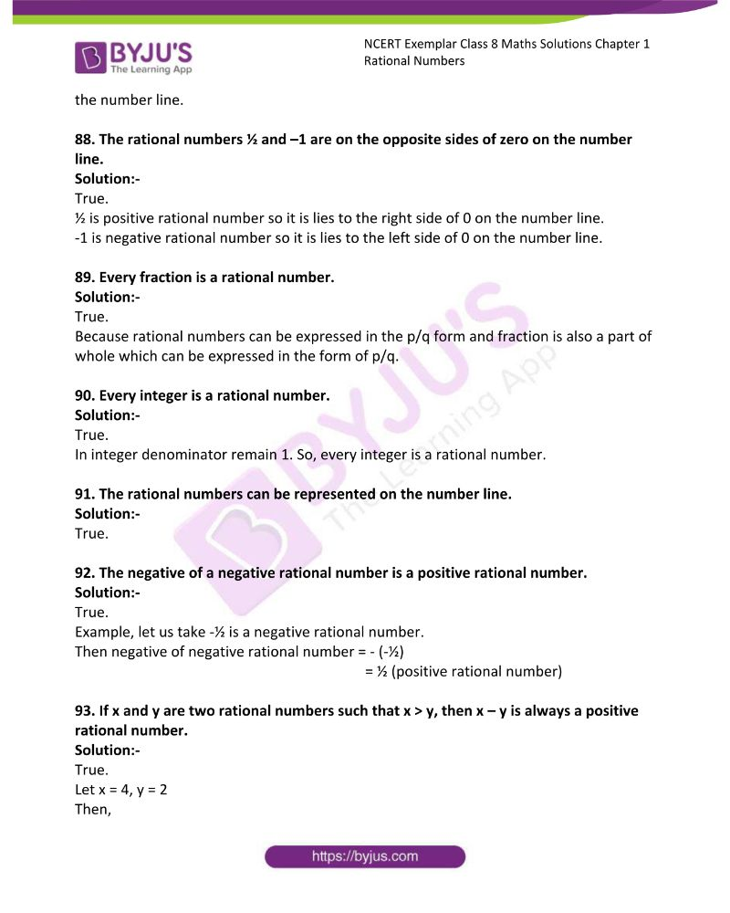 NCERT Exemplar Class 8 Maths Solutions Chapter 1 Rational Numbers 18