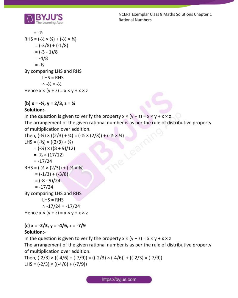 NCERT Exemplar Class 8 Maths Solutions Chapter 1 Rational Numbers 30