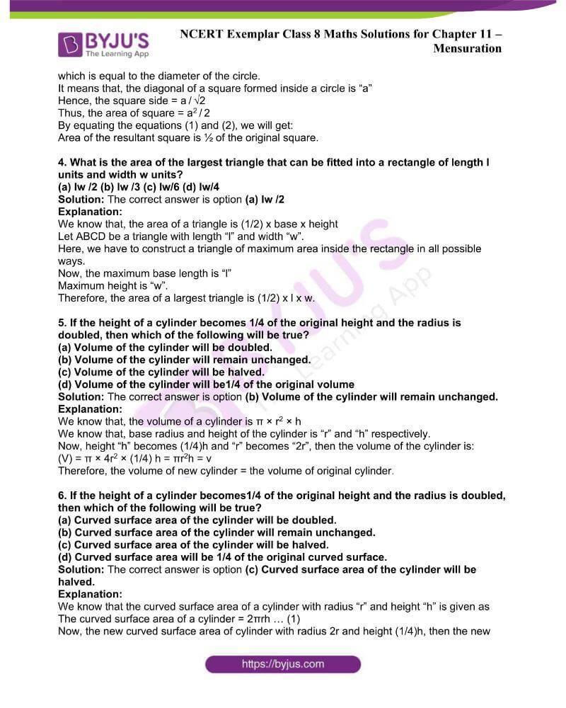 NCERT Exemplar Class 8 Maths Solutions Chapter 11 1