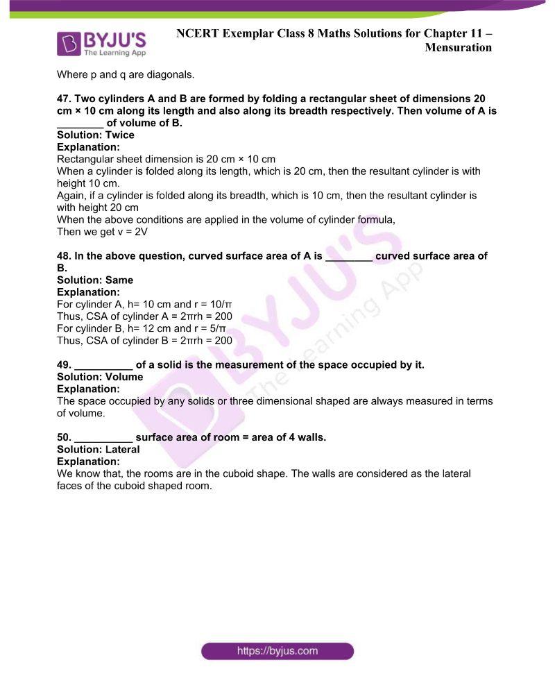 NCERT Exemplar Class 8 Maths Solutions Chapter 11 12