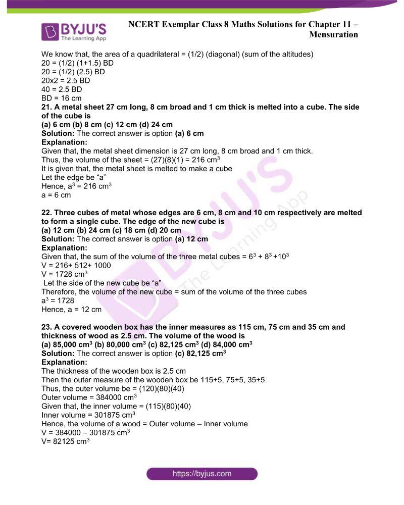 NCERT Exemplar Class 8 Maths Solutions Chapter 11 6
