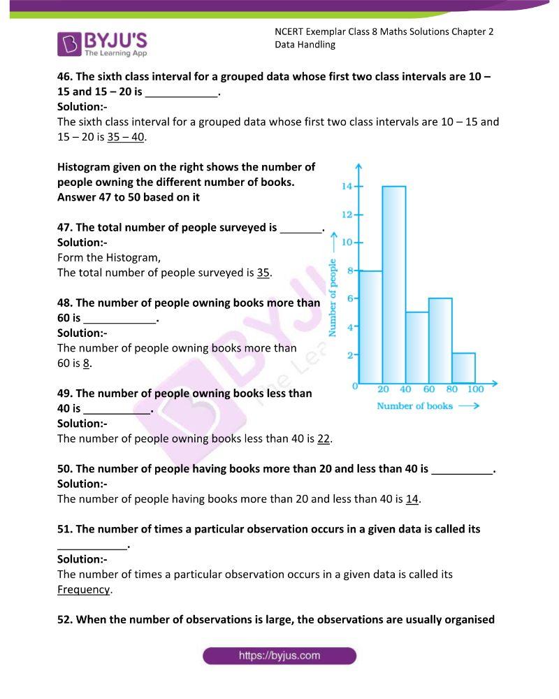 NCERT Exemplar Class 8 Maths Solutions Chapter 2 Data Handling 11