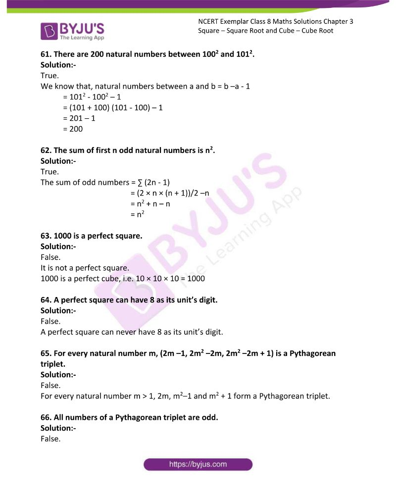 NCERT Exemplar Class 8 Maths Solutions Chapter 3 Square Square Root and Cube Cube Root 12