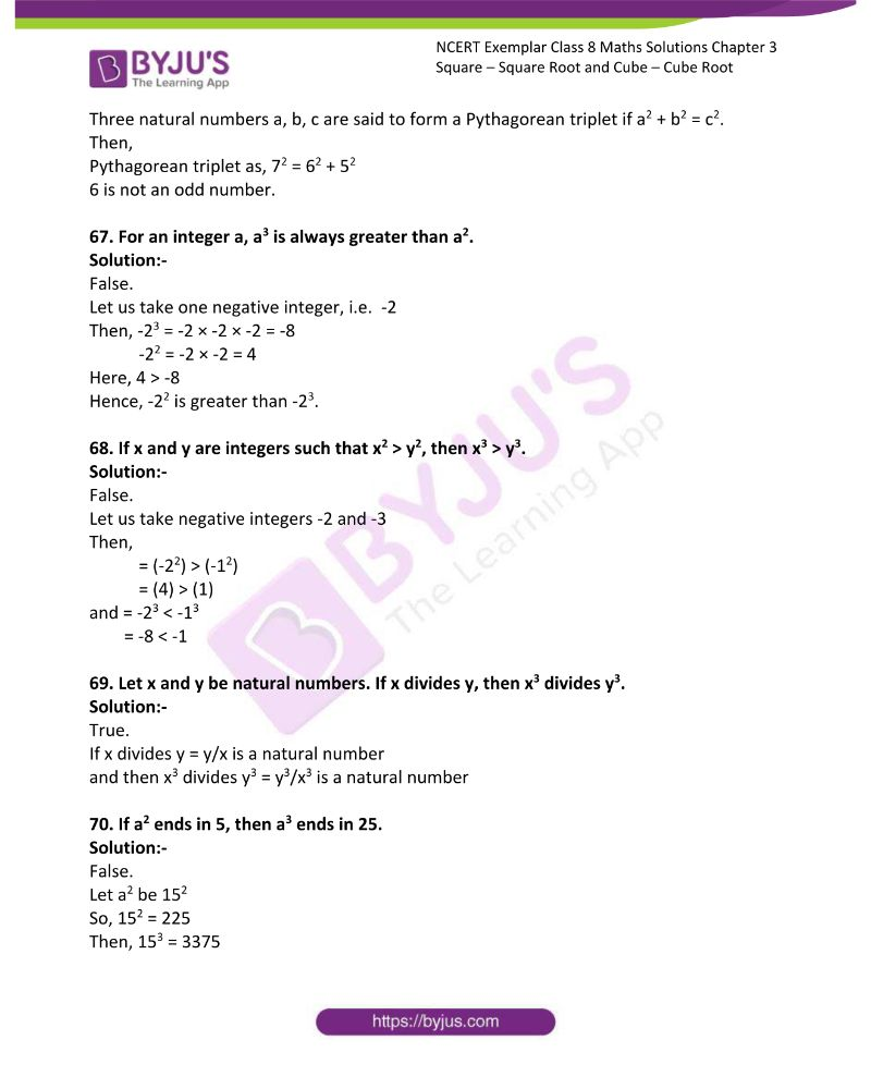 NCERT Exemplar Class 8 Maths Solutions Chapter 3 Square Square Root and Cube Cube Root 13