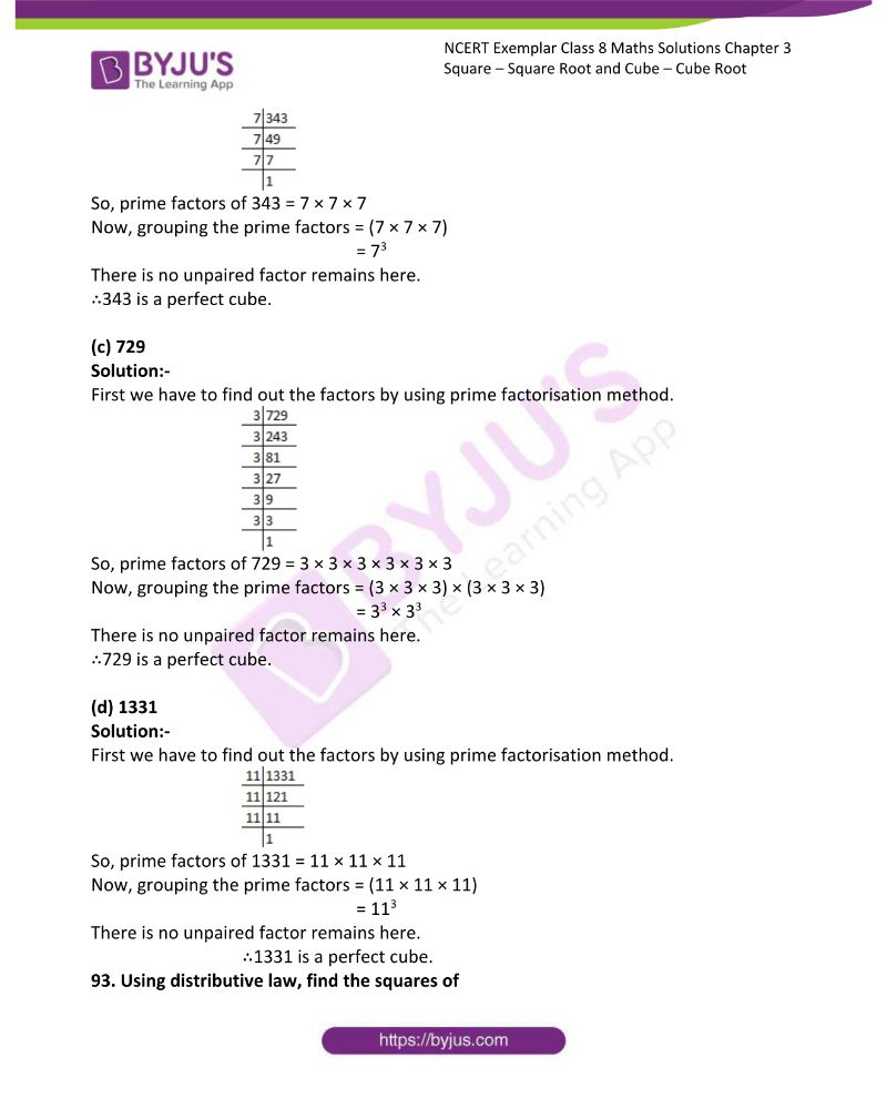 NCERT Exemplar Class 8 Maths Solutions Chapter 3 Square Square Root and Cube Cube Root 20