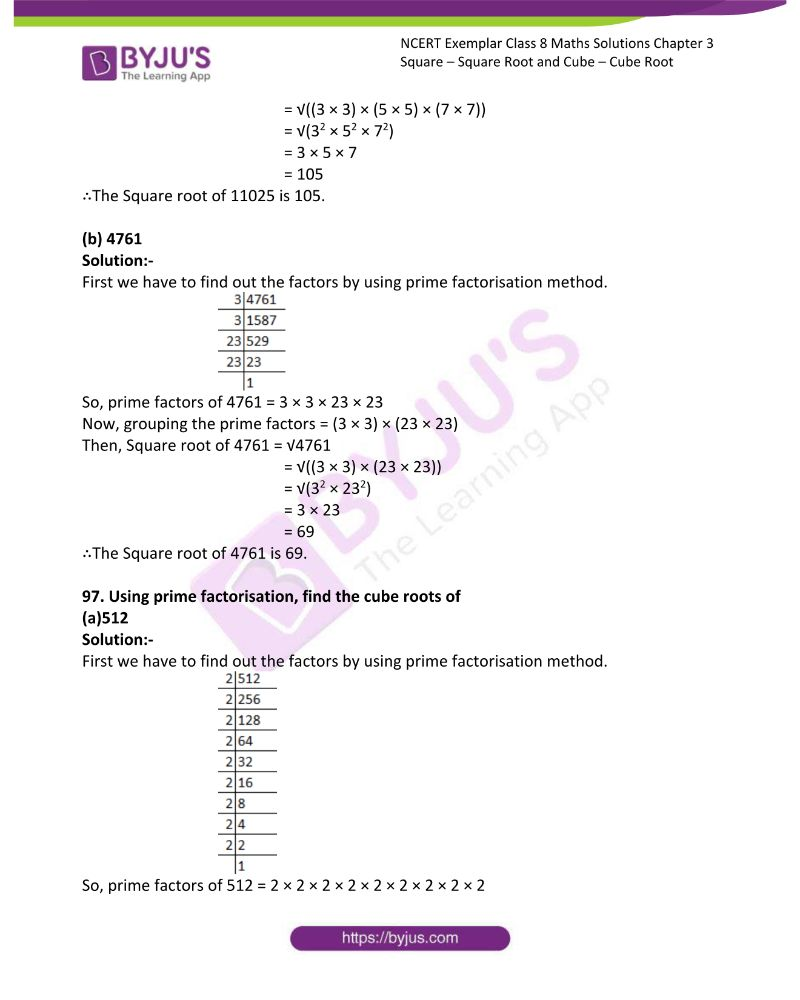 NCERT Exemplar Class 8 Maths Solutions Chapter 3 Square Square Root and Cube Cube Root 23