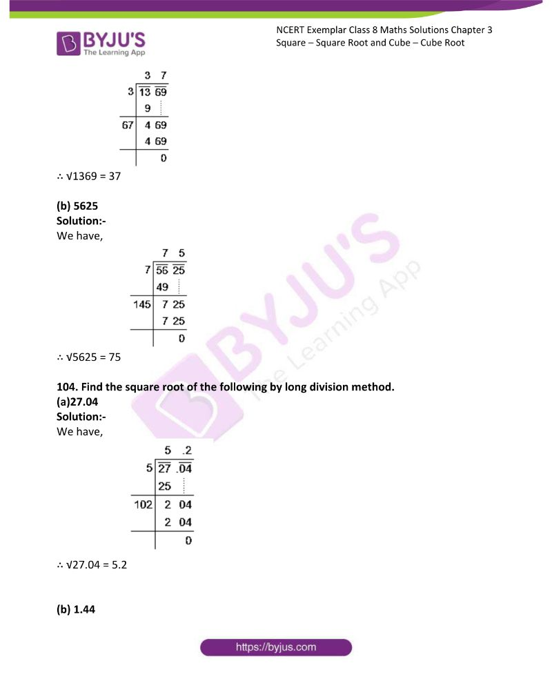 NCERT Exemplar Class 8 Maths Solutions Chapter 3 Square Square Root and Cube Cube Root 28