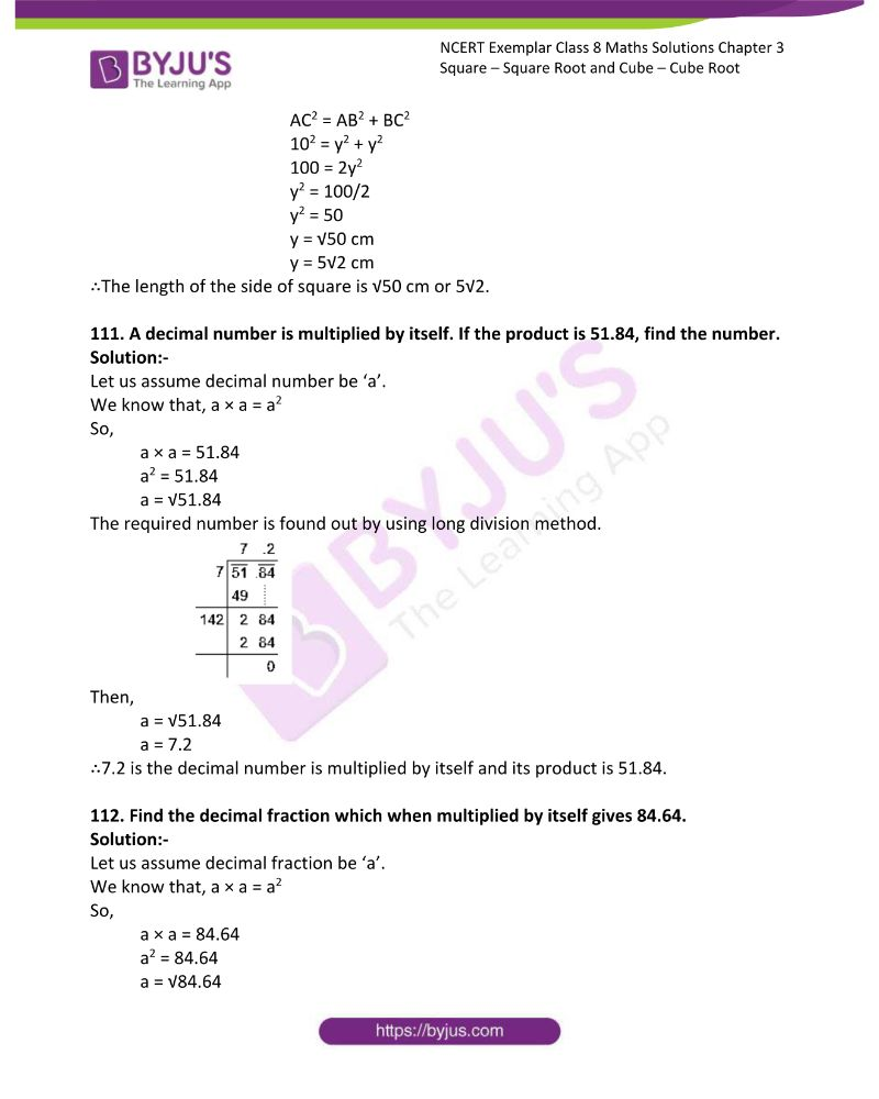 NCERT Exemplar Class 8 Maths Solutions Chapter 3 Square Square Root and Cube Cube Root 32