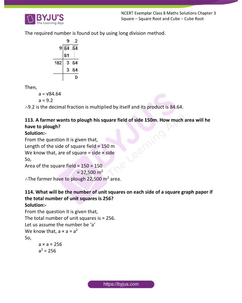 NCERT Exemplar Class 8 Maths Solutions Chapter 3 Square Square Root and Cube Cube Root 33