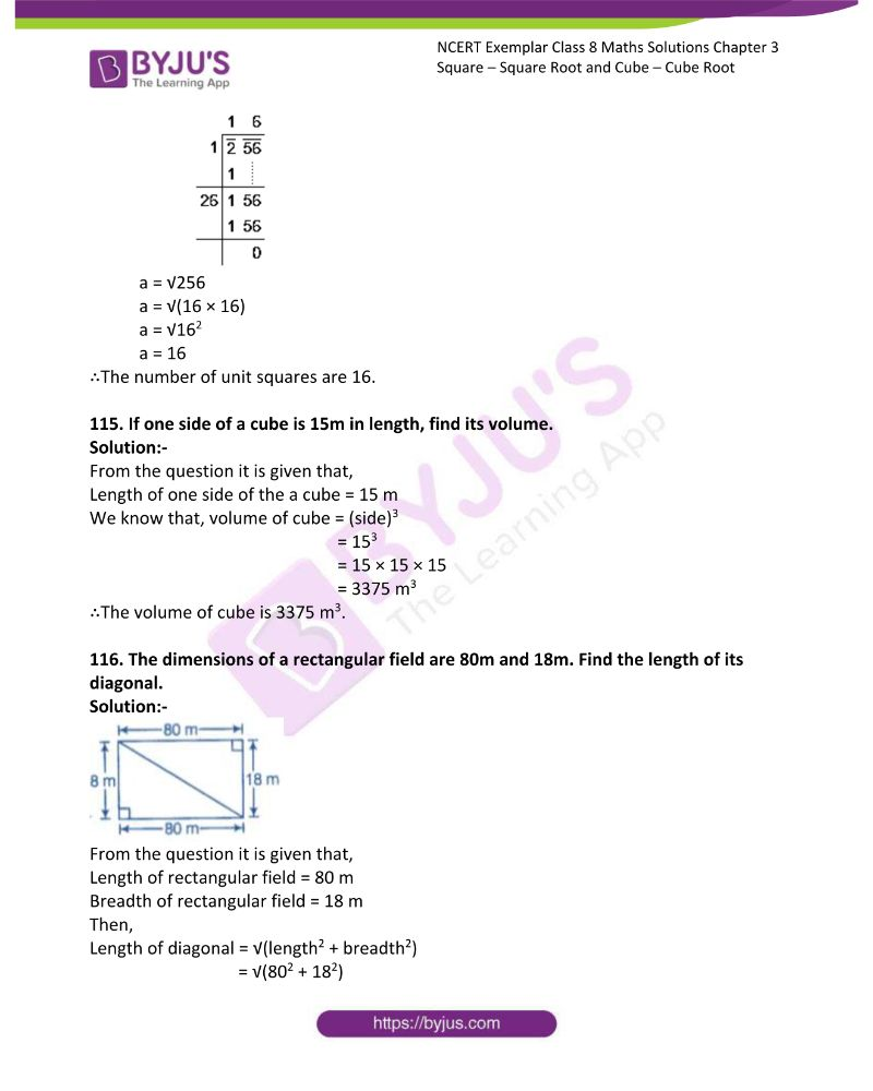 NCERT Exemplar Class 8 Maths Solutions Chapter 3 Square Square Root and Cube Cube Root 34