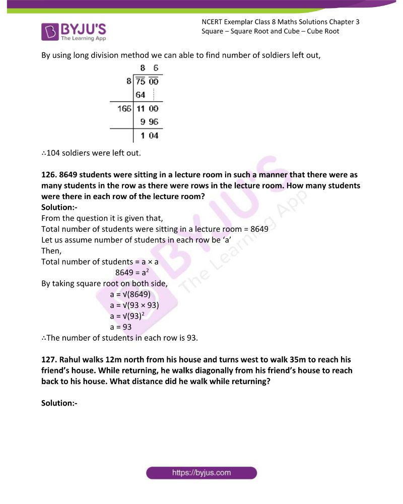 NCERT Exemplar Class 8 Maths Solutions Chapter 3 Square Square Root and Cube Cube Root 39