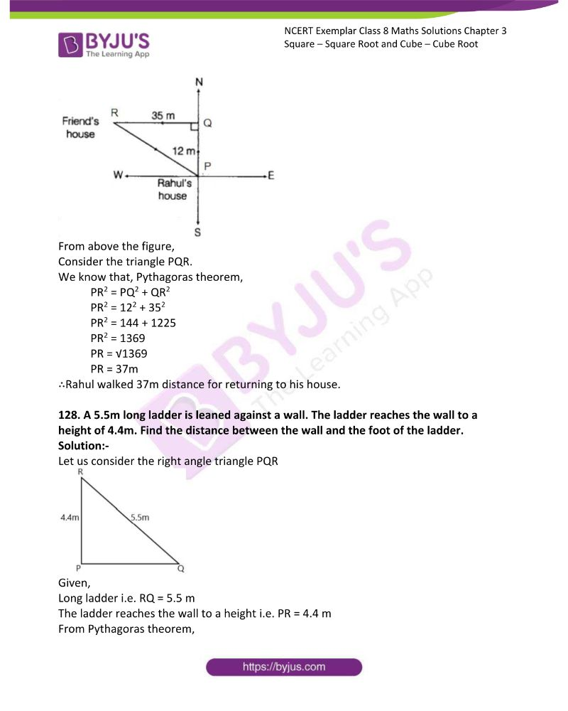 NCERT Exemplar Class 8 Maths Solutions Chapter 3 Square Square Root and Cube Cube Root 40