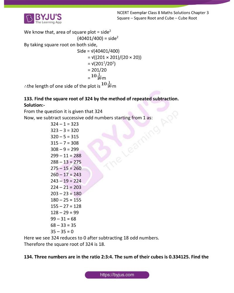 NCERT Exemplar Class 8 Maths Solutions Chapter 3 Square Square Root and Cube Cube Root 43