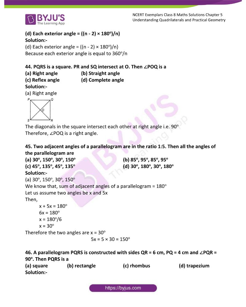NCERT Exemplar Class 8 Maths Solutions Chapter 5 Understanding Quadrilaterals and Practical Geometry 13