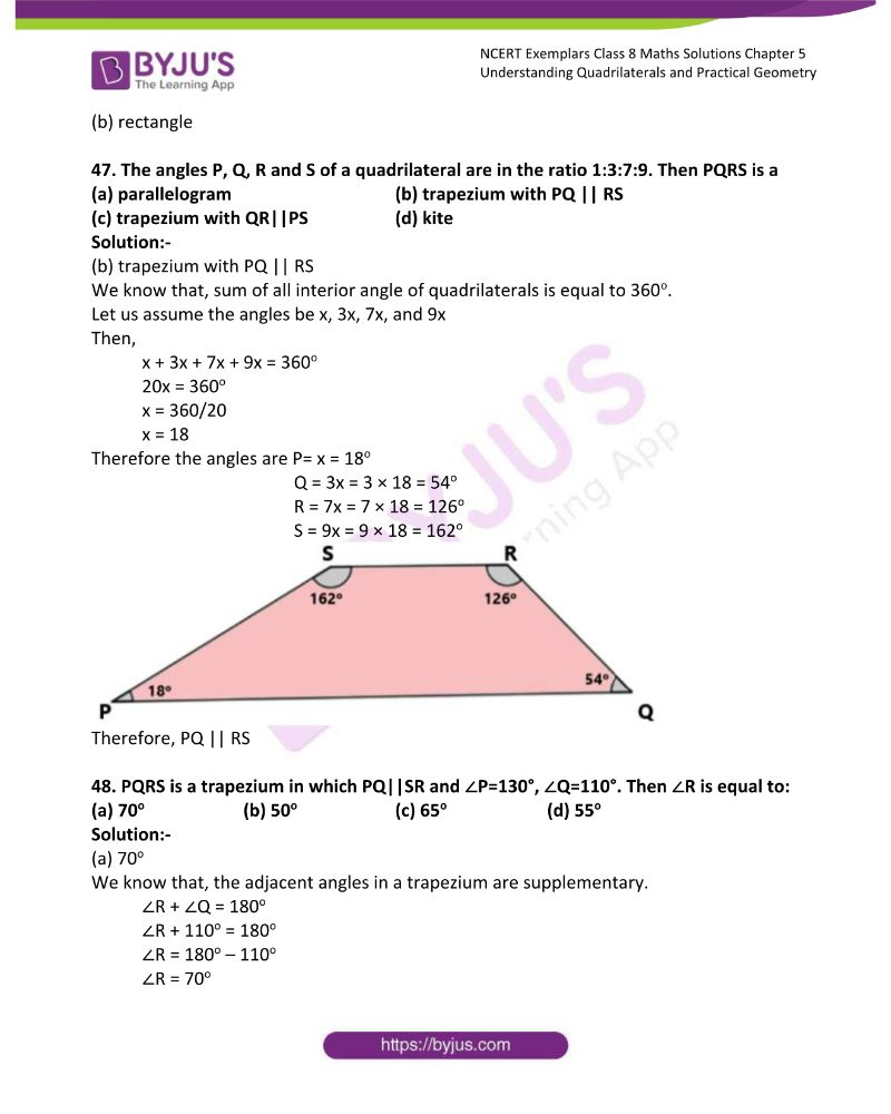 NCERT Exemplar Class 8 Maths Solutions Chapter 5 Understanding Quadrilaterals and Practical Geometry 14