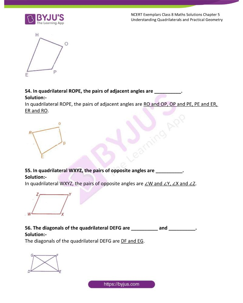 NCERT Exemplar Class 8 Maths Solutions Chapter 5 Understanding Quadrilaterals and Practical Geometry 16