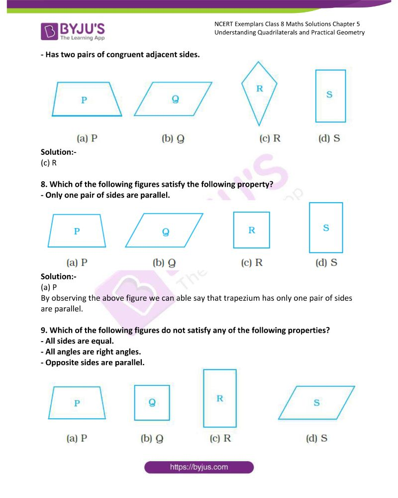 NCERT Exemplar Class 8 Maths Solutions Chapter 5 Understanding Quadrilaterals and Practical Geometry 2