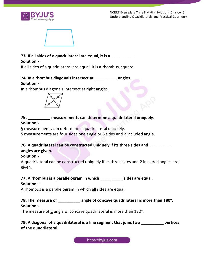 NCERT Exemplar Class 8 Maths Solutions Chapter 5 Understanding Quadrilaterals and Practical Geometry 20
