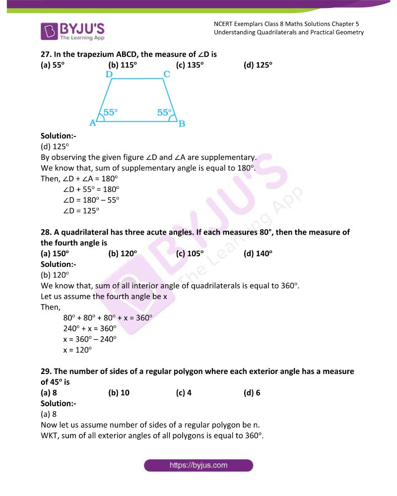 NCERT Exemplar Class 8 Maths Solutions Chapter 5 Understanding Quadrilaterals and Practical Geometry 7