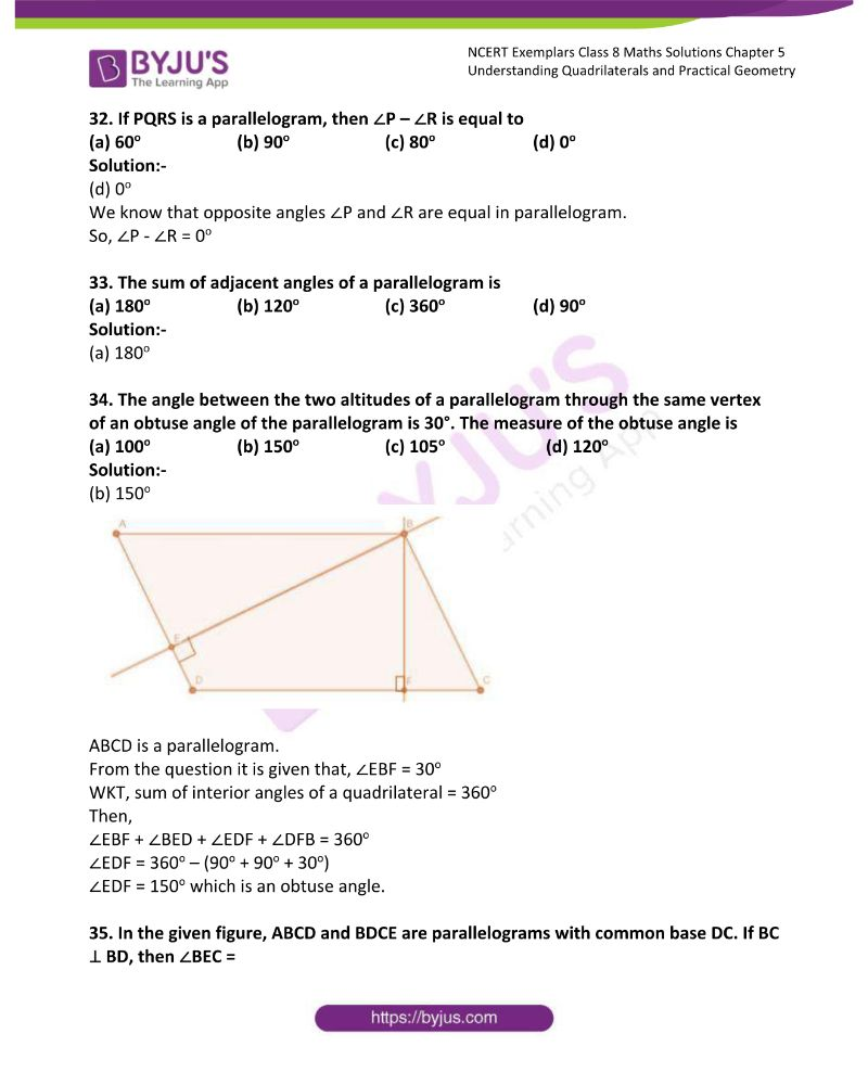 NCERT Exemplar Class 8 Maths Solutions Chapter 5 Understanding Quadrilaterals and Practical Geometry 9