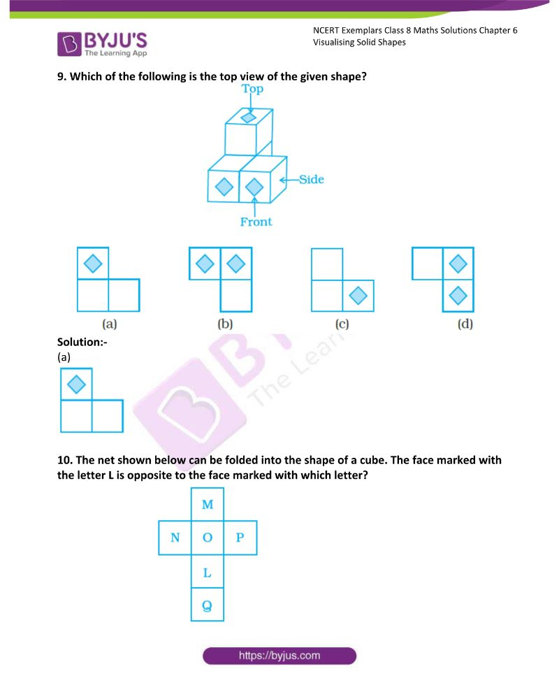 NCERT Exemplar Class 8 Maths Solutions Chapter 6 Visualising Solid Shapes 2
