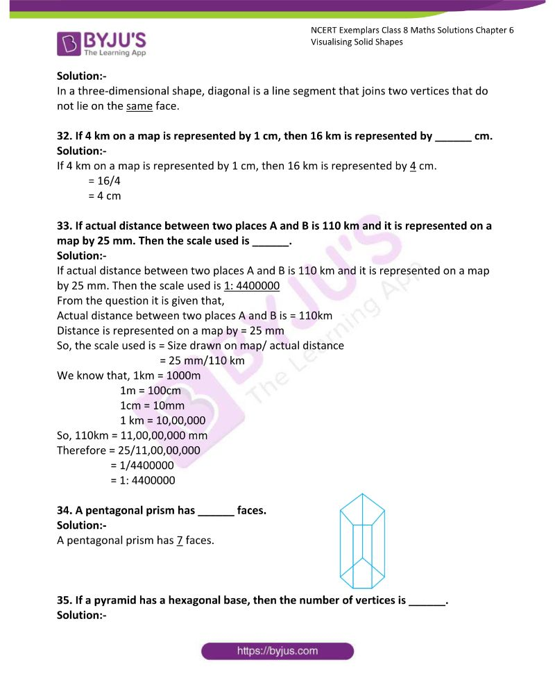 NCERT Exemplar Class 8 Maths Solutions Chapter 6 Visualising Solid Shapes 9