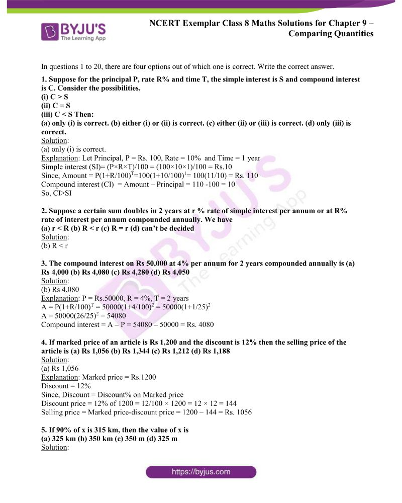 NCERT Exemplar Class 8 Maths Solutions Chapter 9