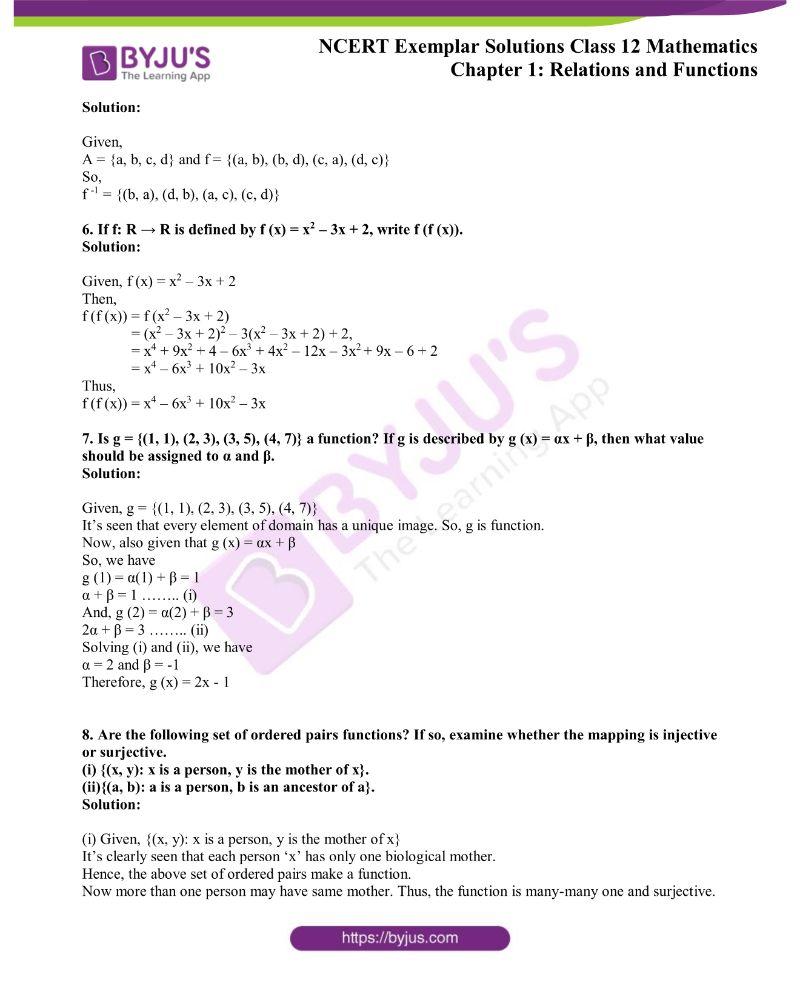 NCERT Exemplar Solutions Class 12 Mathematics Chapter 1 1