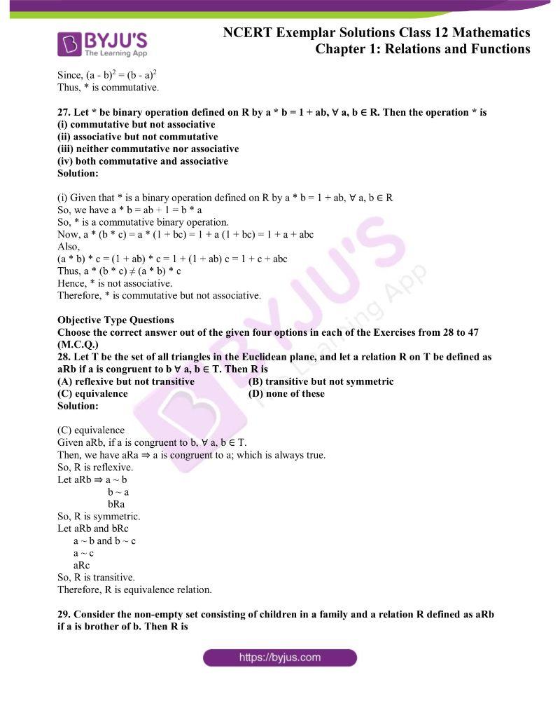 NCERT Exemplar Solutions Class 12 Mathematics Chapter 1 11