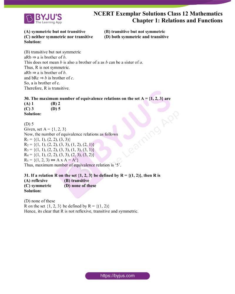 NCERT Exemplar Solutions Class 12 Mathematics Chapter 1 12