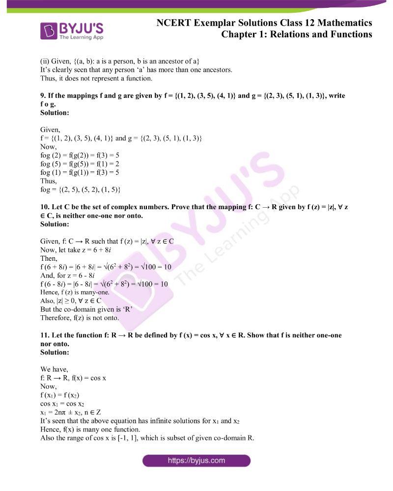 NCERT Exemplar Solutions Class 12 Mathematics Chapter 1 2