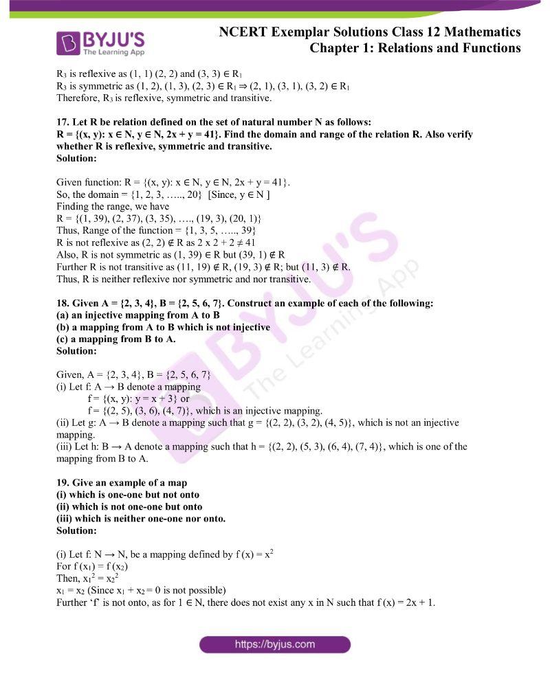 NCERT Exemplar Solutions Class 12 Mathematics Chapter 1 5
