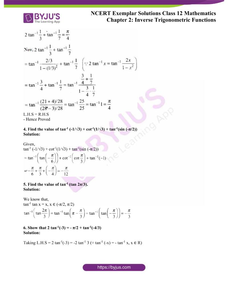 NCERT Exemplar Solutions Class 12 Mathematics Chapter 2 1