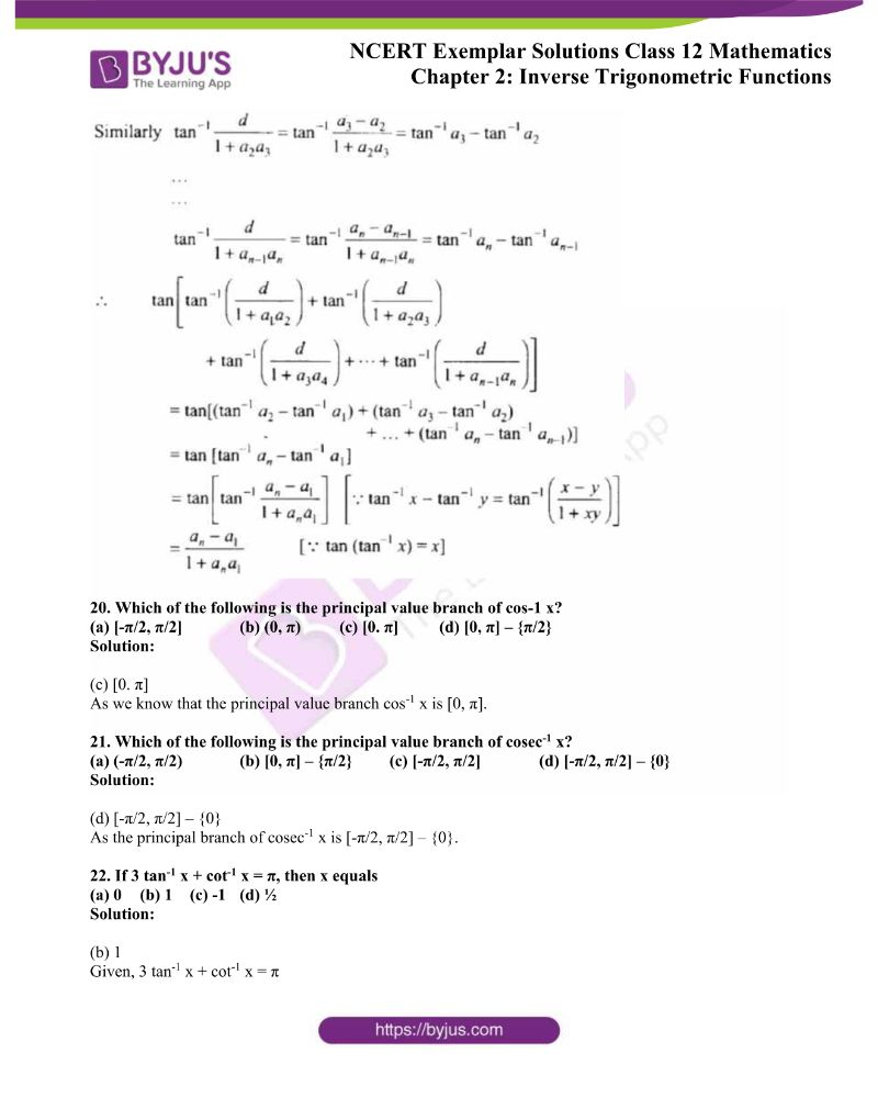 NCERT Exemplar Solutions Class 12 Mathematics Chapter 2 10