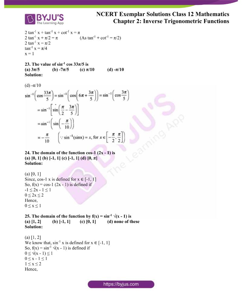 NCERT Exemplar Solutions Class 12 Mathematics Chapter 2 11