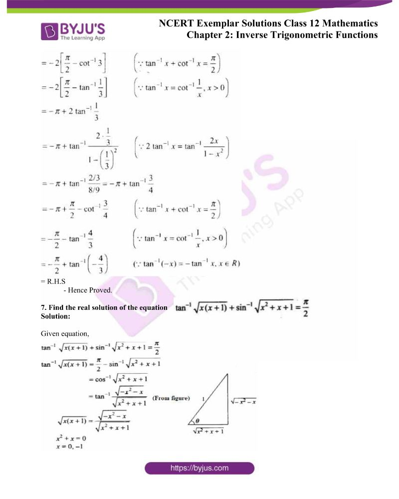 NCERT Exemplar Solutions Class 12 Mathematics Chapter 2 2