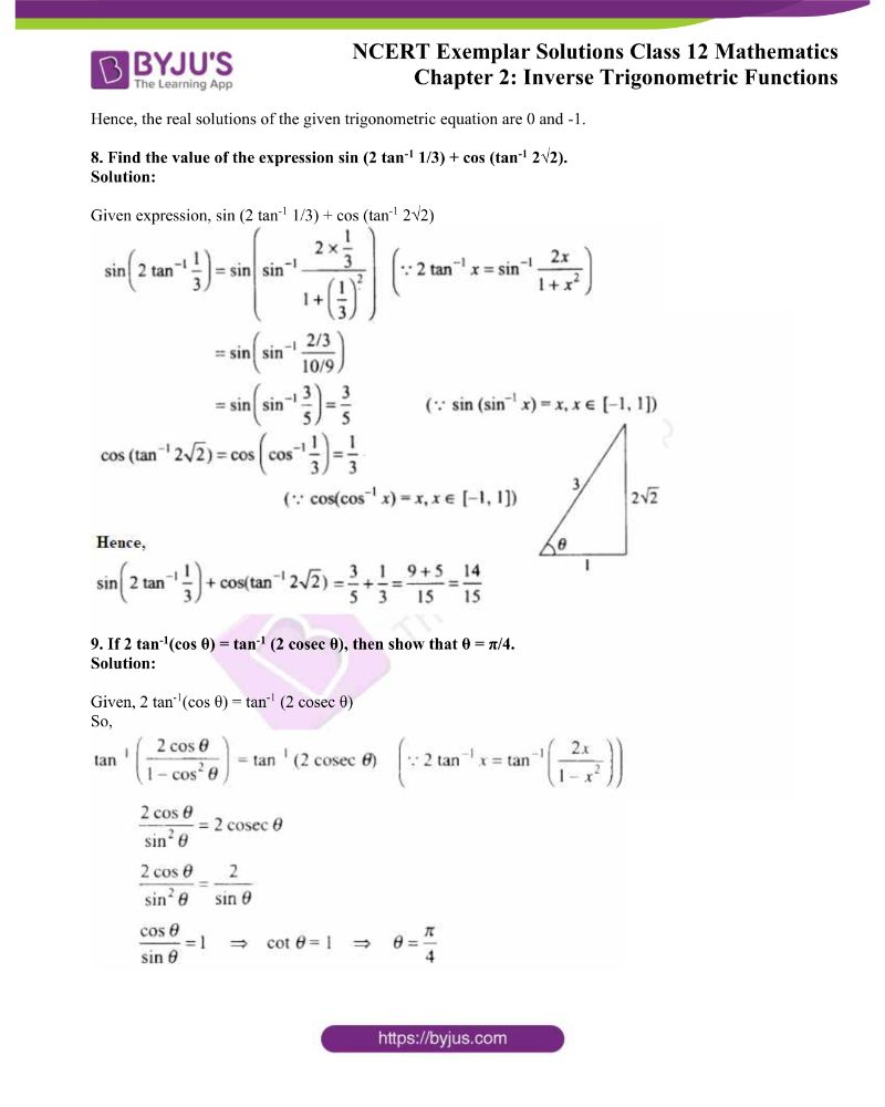 NCERT Exemplar Solutions Class 12 Mathematics Chapter 2 3
