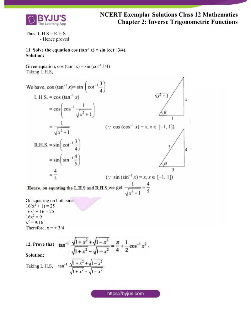 NCERT Exemplar Solutions Class 12 Mathematics Chapter 2 5
