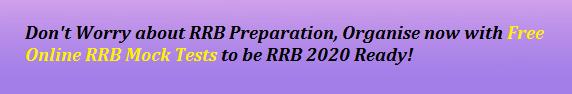 Online Free RRB Mock Tests