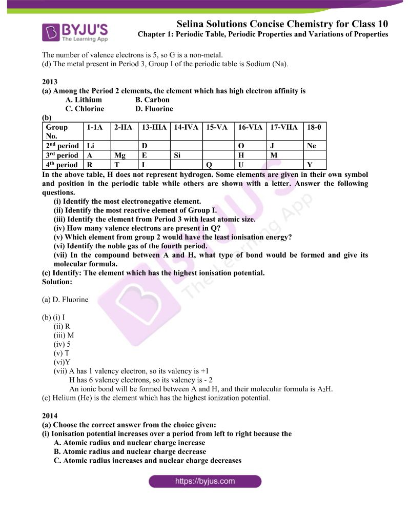 Selina Solutions Concise Chemistry for Class 10 Chapter 1 7
