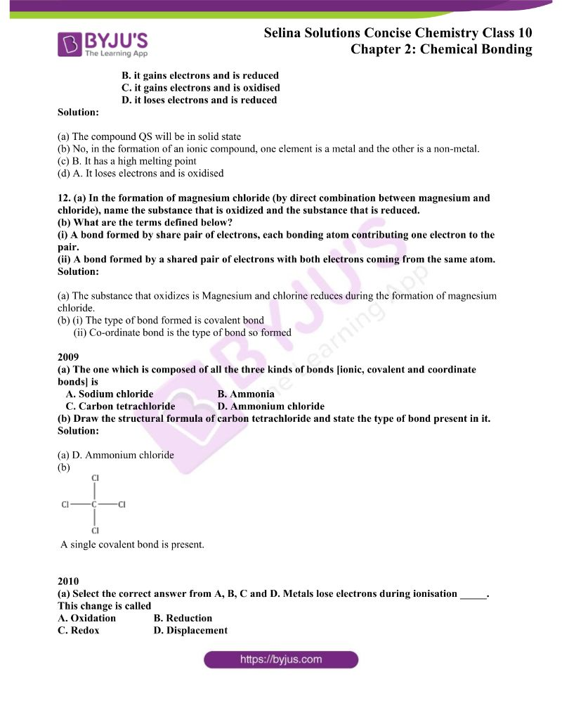 Selina Solutions Concise Chemistry for Class 10 Chapter 2 4