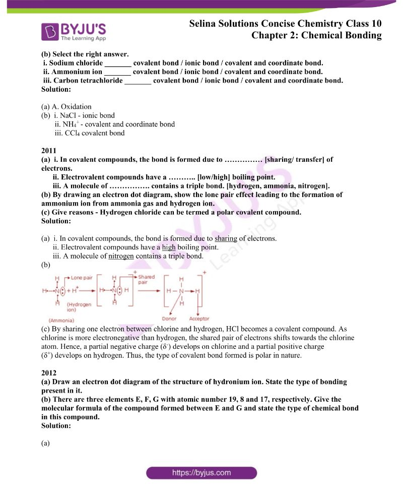 Selina Solutions Concise Chemistry for Class 10 Chapter 2 5